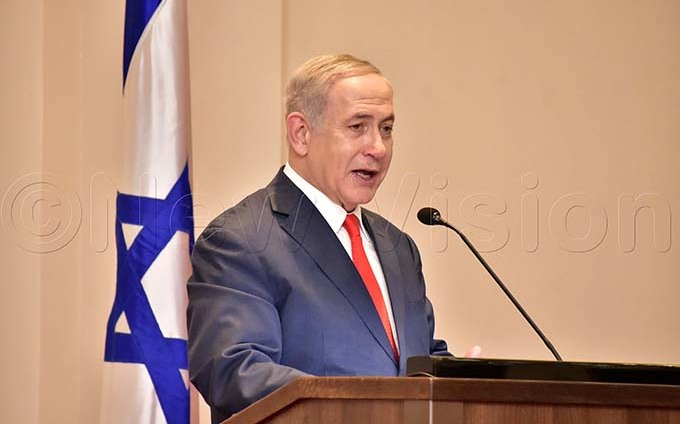 sraeli rime inister enjamin etanyahu at tate house ntebbe on 03 ebruary 2020 hey were here for a one day official visit hoto by iriam amutebi