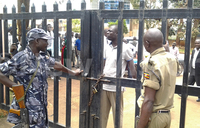 Police siege Jinja central division offices, halt LC1 swearing
