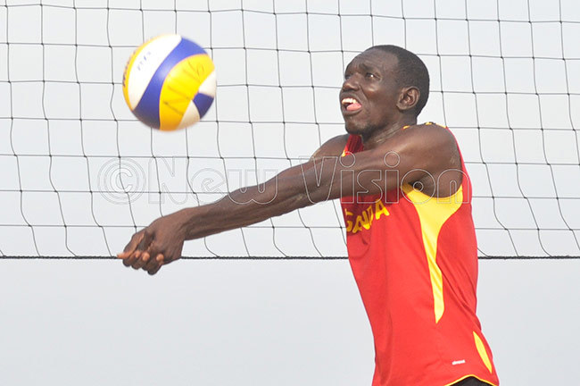 ickens tim in action during a beach volleyball tournament at ido each hoto by ichael subuga