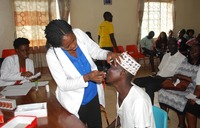 Lions in a free eye screening and treatment camp